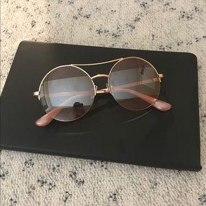 Betsey Johnson Round Pink Sunglasses